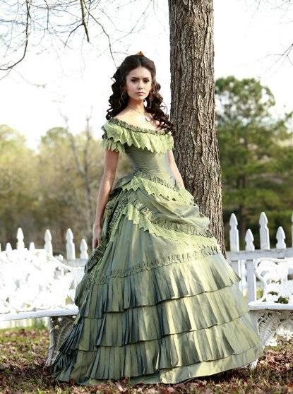 Taffeta Ruffle Katherine Vintage Prom Gowns On Vampire Diaries